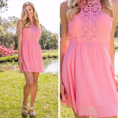 pink graduation party dress