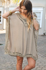 boho crochet tunic dress