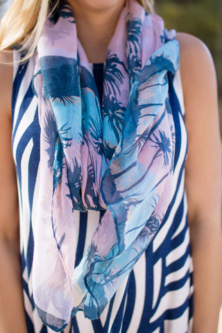 tropical printed scarf