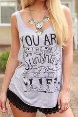 sunshine of my life tank top