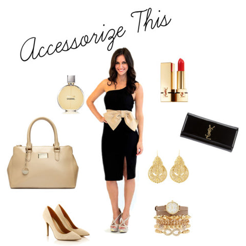 How to accessorize a black dress pictures