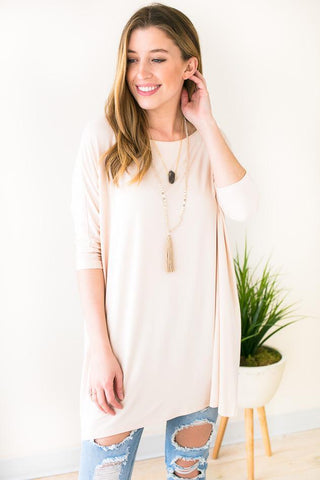 Mass Appeal Bamboo Tunic - Cream