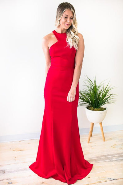 Walking Through The Fire Red Ball Gown