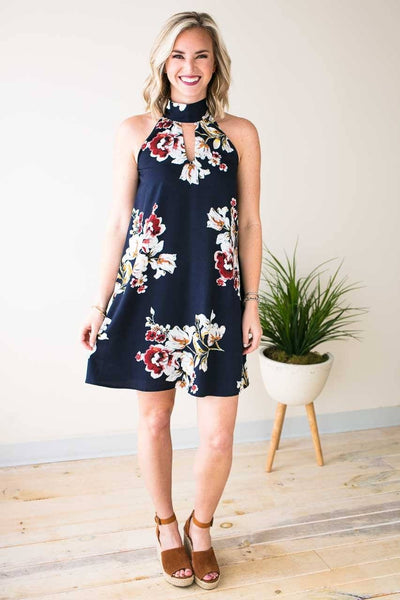 Dresses Life Changes Keyhole Pocket Dress - Lotus Boutique