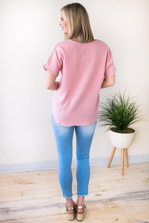 Pink Short Sleeve Top