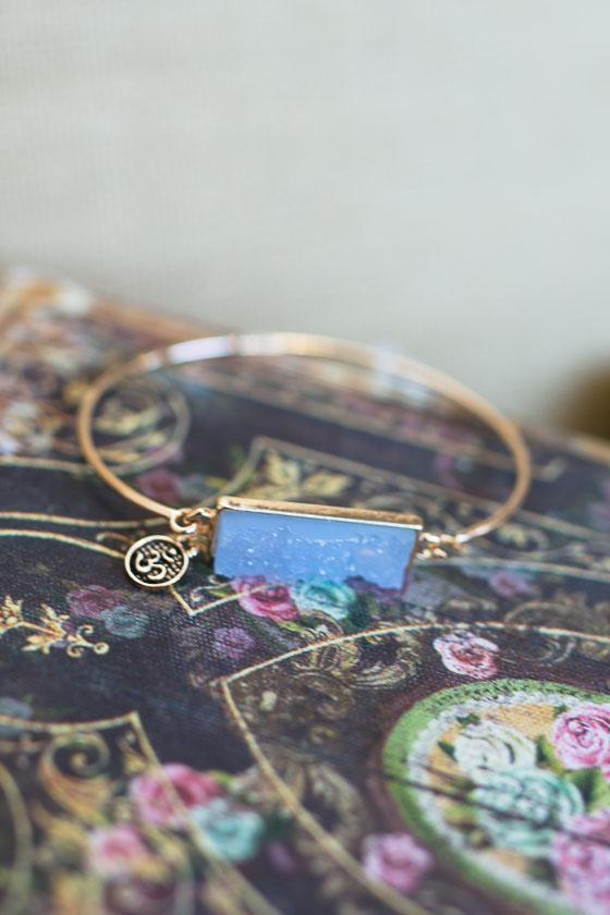 Accessories Detox Blue Druzy Bracelet - Lotus Boutique