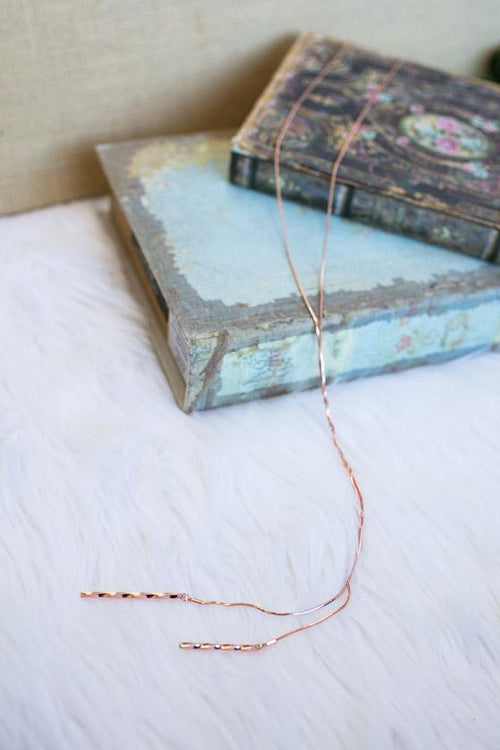 Simple Rose Gold Long Necklace
