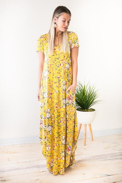 Dresses Darcy Floral Maxi Dress with Pockets - Lotus Boutique