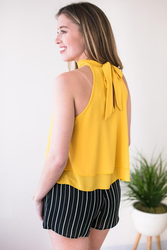 Halter Neck Yellow Tank