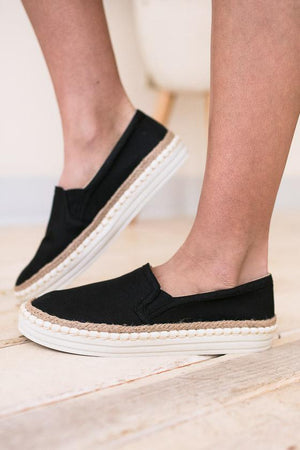 Black Slip On Sneakers