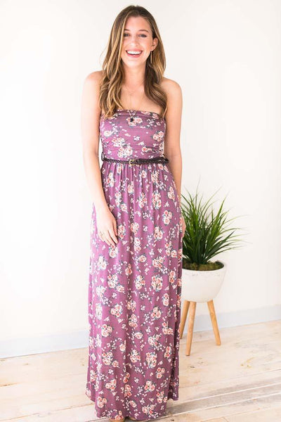Dresses Beauty Marked Vintage Floral Maxi Dress - Lotus Boutique