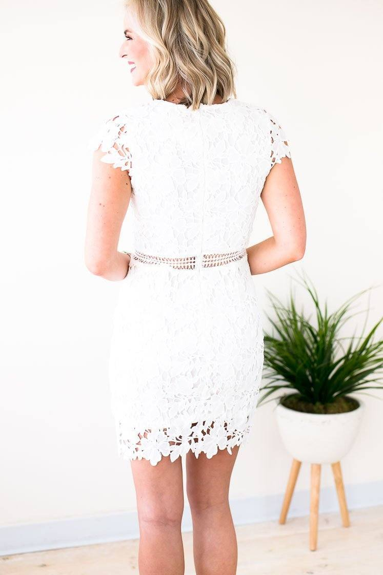 Dresses Incredible Story White Crochet Lace Dress - Lotus Boutique
