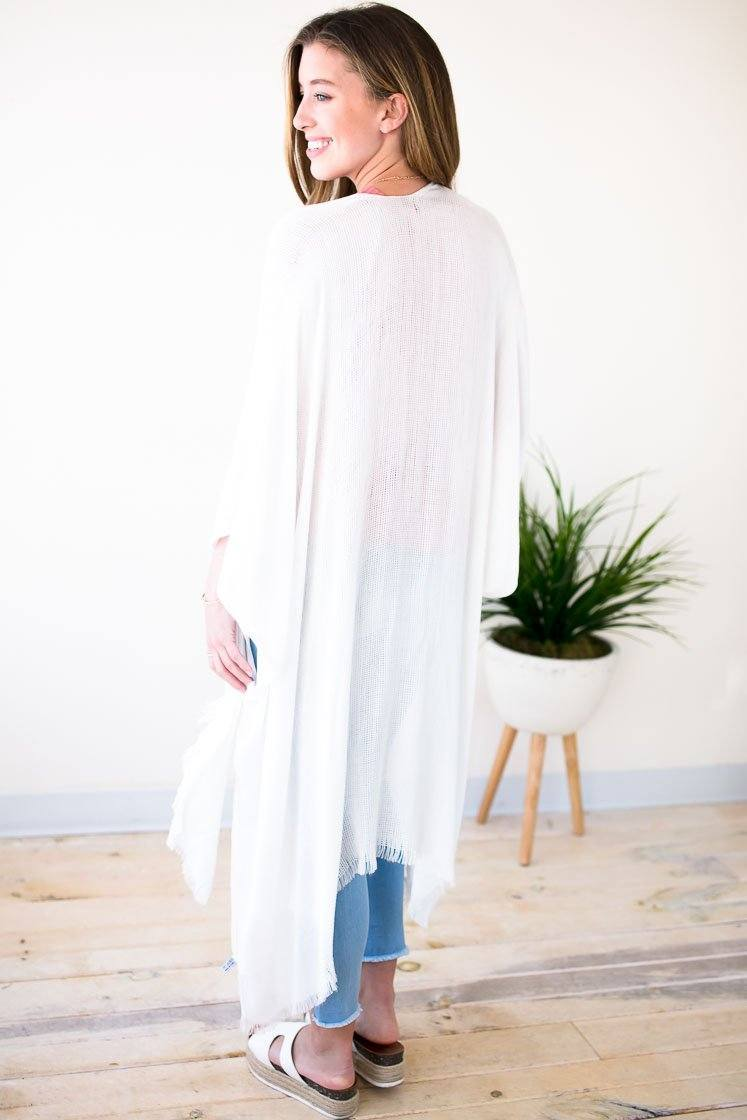 Tops Begging for Ivory Boho Kimono - Lotus Boutique