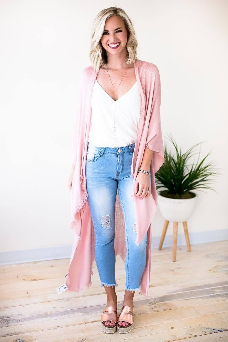 Tops Begging for Blush Boho Kimono - Lotus Boutique