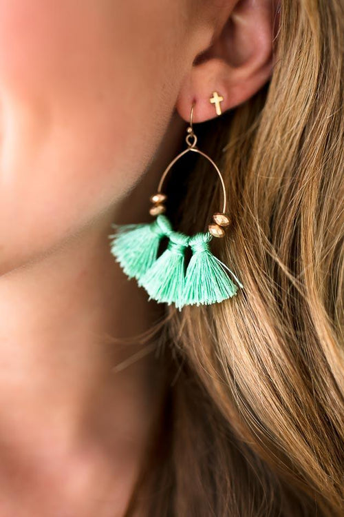 Simple Tassel Detail Earrings