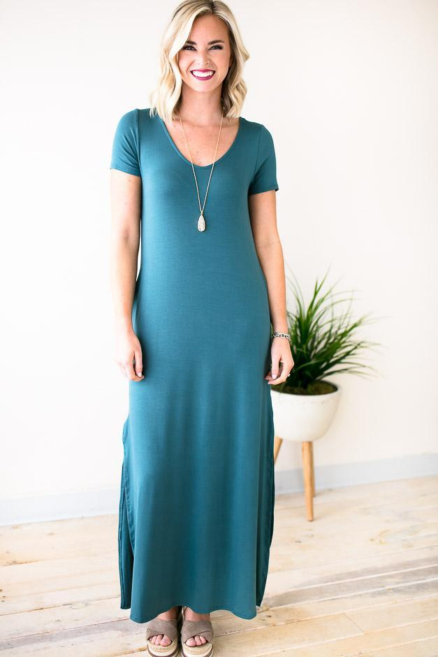 Blue Maxi With Pockets