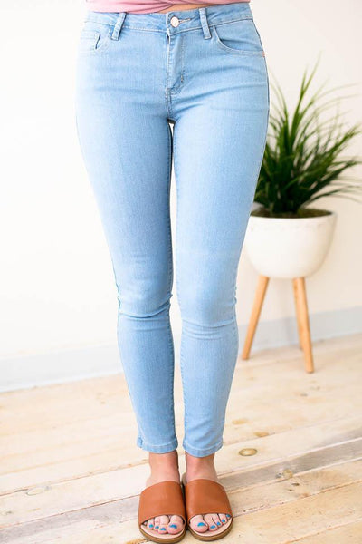 Bottoms Perfect Posture Basic Skinny Jeans  - Lotus Boutique