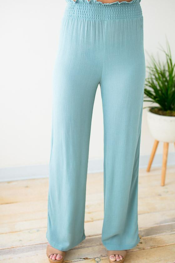 Bottoms Stand Tall Elastic High Waist Pants - Lotus Boutique