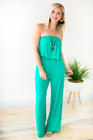 Jade Strapless Pocket Jumpsuit