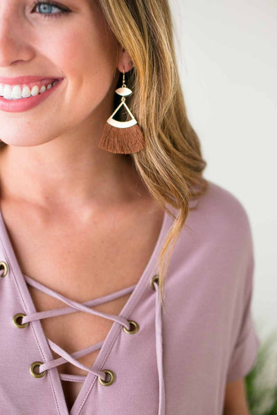 Accessories Tassels Forever Cream Earrings - Lotus Boutique