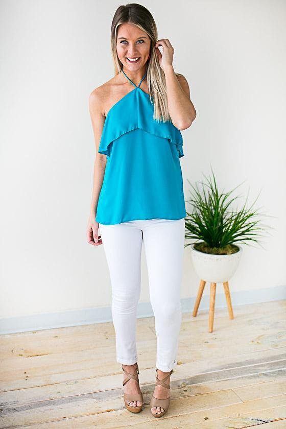 Turquoise Halter Top