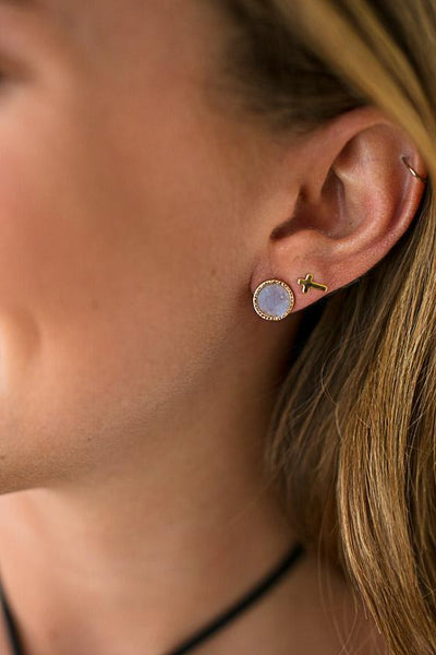 Accessories On the Daily Small Druzy Studs - Lotus Boutique