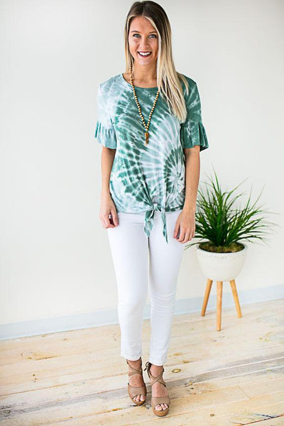 Tops Sage You Love Me Tie Dye Top - Lotus Boutique