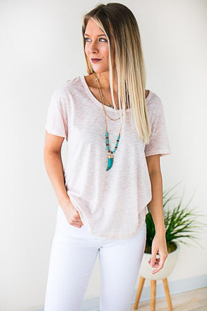 Open Back Short Sleeve Top