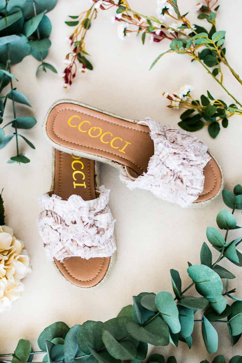 Shoes On The Run Ruffle Slip On Espadrille Platform Sandal - Lotus Boutique