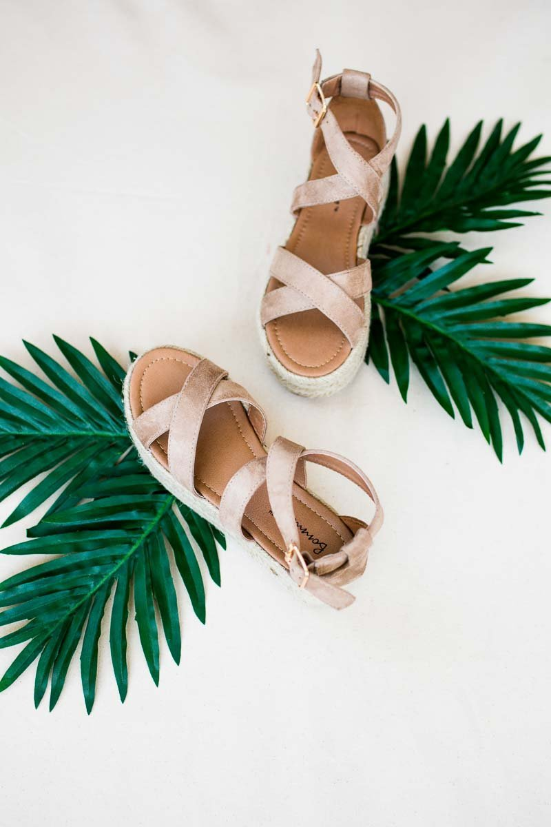 Shoes Santa Monica Dreamin' Natural Espadrille Platform - Lotus Boutique