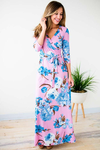 Lavender Floral Maxi Dress