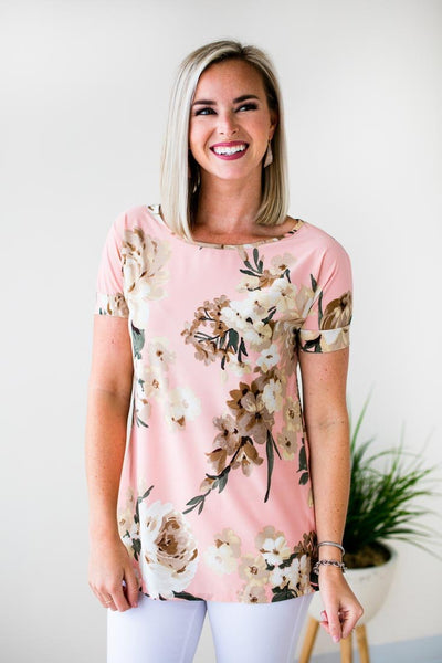 Tops Can't Rewind Everyday Floral Top - Lotus Boutique