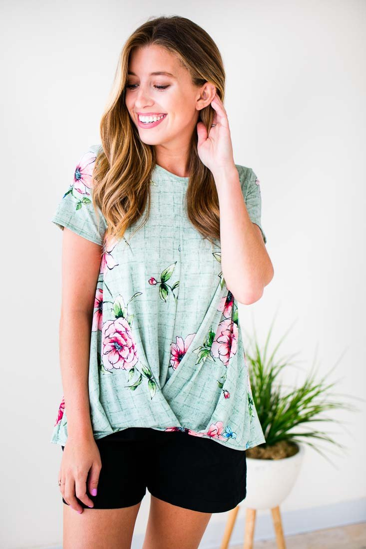 Surplice Floral Top