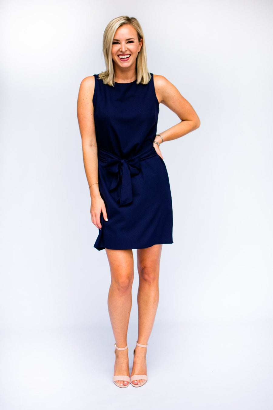 Navy Bow Tie Dress