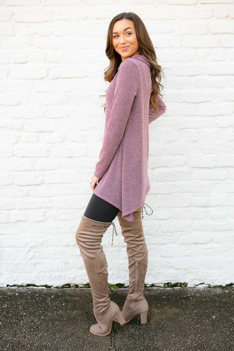 Plum Button Detail Tunic