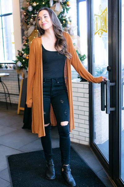 Tan Long Cardigan