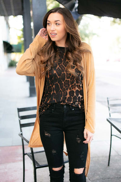 Animal Print Layering Top