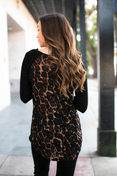Lightweight Animal Print Top