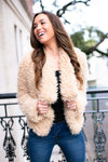 Light Tan Fuzzy Jacket