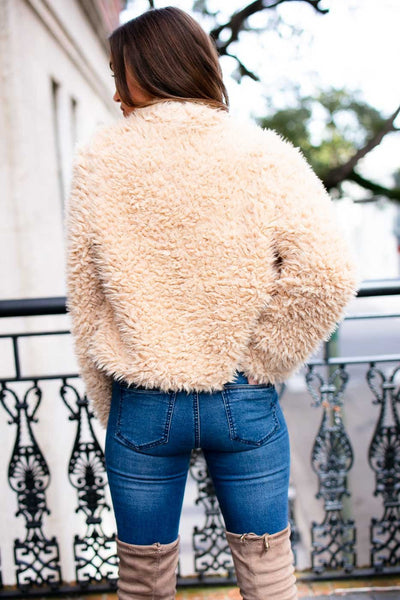 Fuzzy Light Tan Jacket