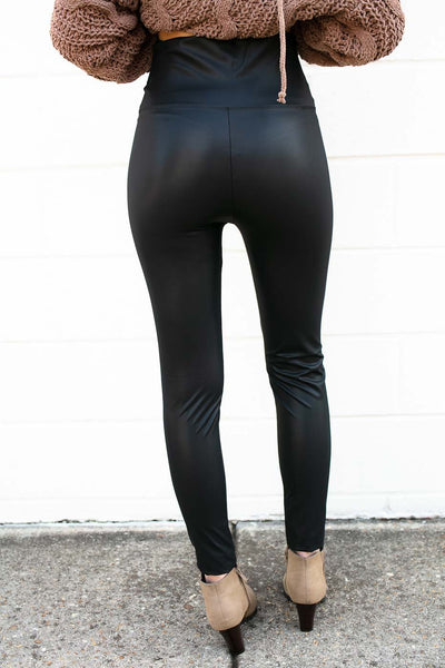 Pleather Matte Black Leggings