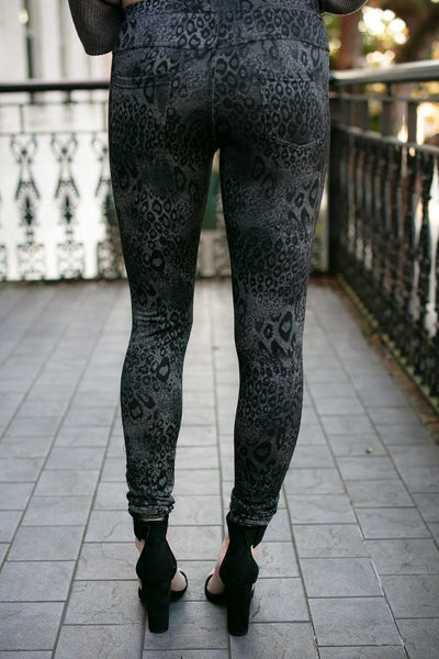 Animal Print Fleece Lined Jeggings