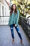 Simple Moss Dolman Sleeve Sweater