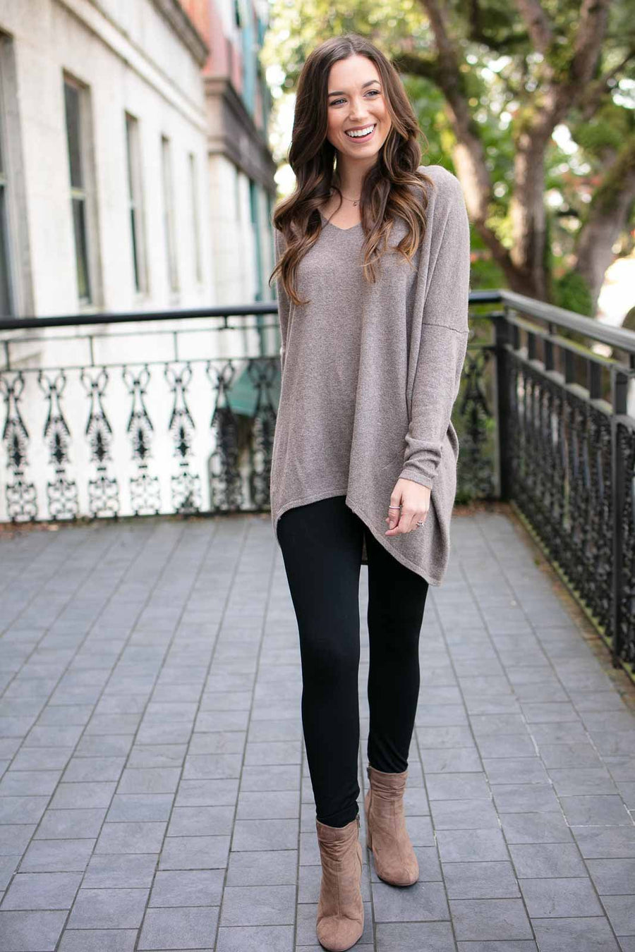 Mocha Dolman Sleeve Sweater