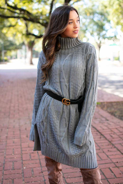 Grey Sweater Tunic