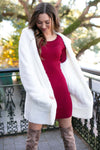 Tight Burgundy Sweater Dress