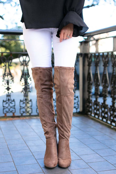 OTK Taupe Suede Boots