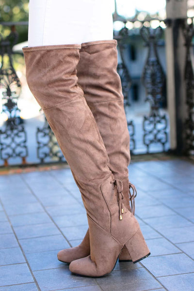 Over The Knee Taupe Boots