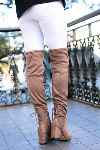 Taupe OTK Boots