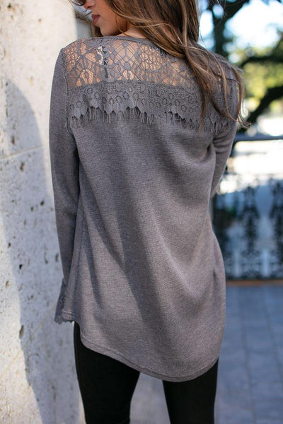 Thermal And Lace Top